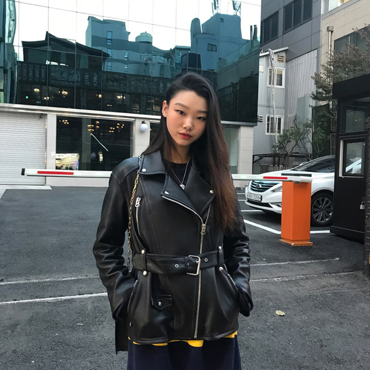 [배윤영] Matisse lambs leather Rider jacket - Black