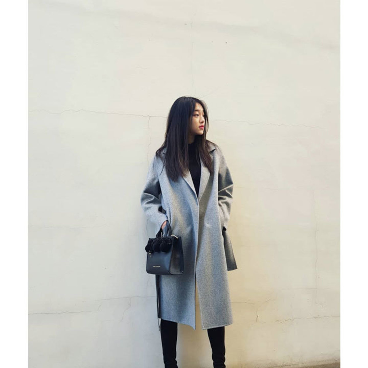 [김설희] MUSÉE Manet Wool cashmere blended coat - gray