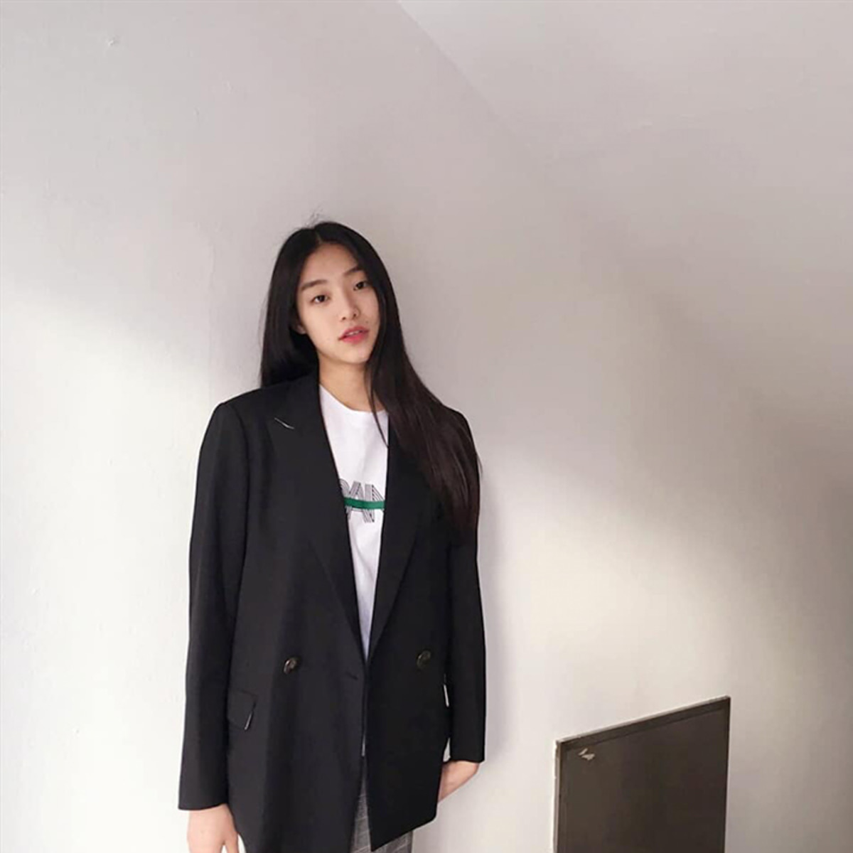 [김설희] Masculine loose fit jacket - Black