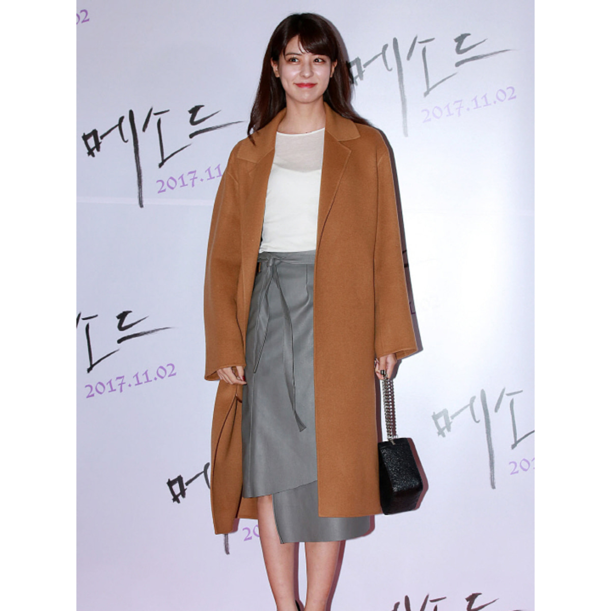[후지이 미나] MUSÉE Manet Wool cashmere blended coat - camel