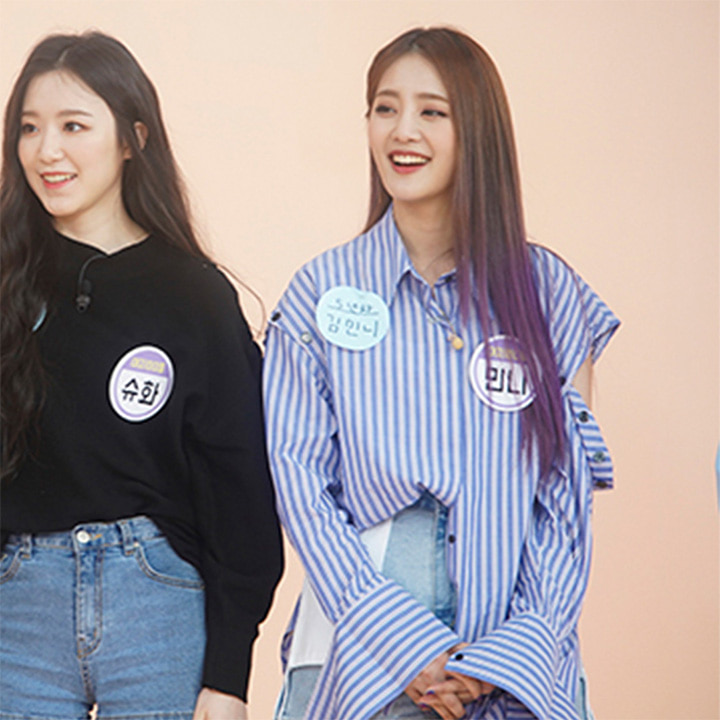 [여자아이들 민니] Rhea Sleeve Detachable Shirt_Blue Stripe