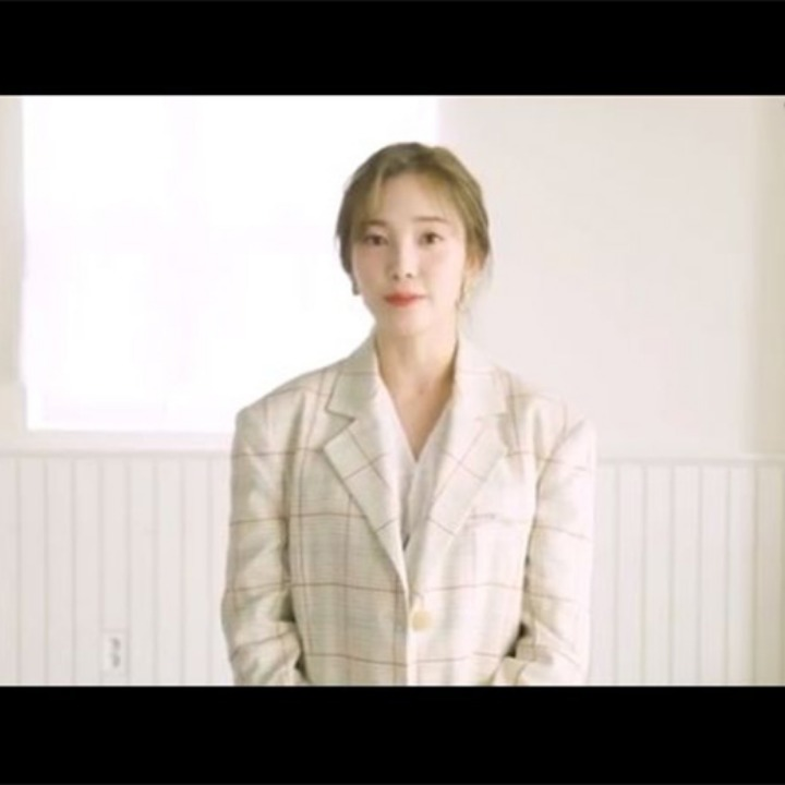 [에이프릴 채경] Moulin Classic Single Jacket_Beige Check