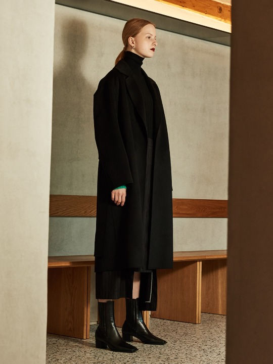 [김설희 착용] MANET Cashmere Blended Wool Coat_Black