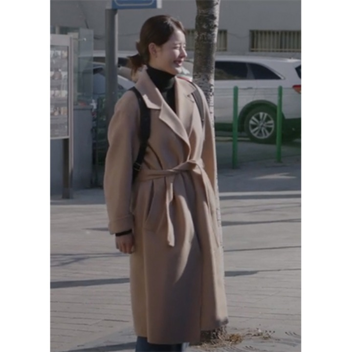 [김주현] Manet Cashmere Blended Wool Coat_Creamy Camel