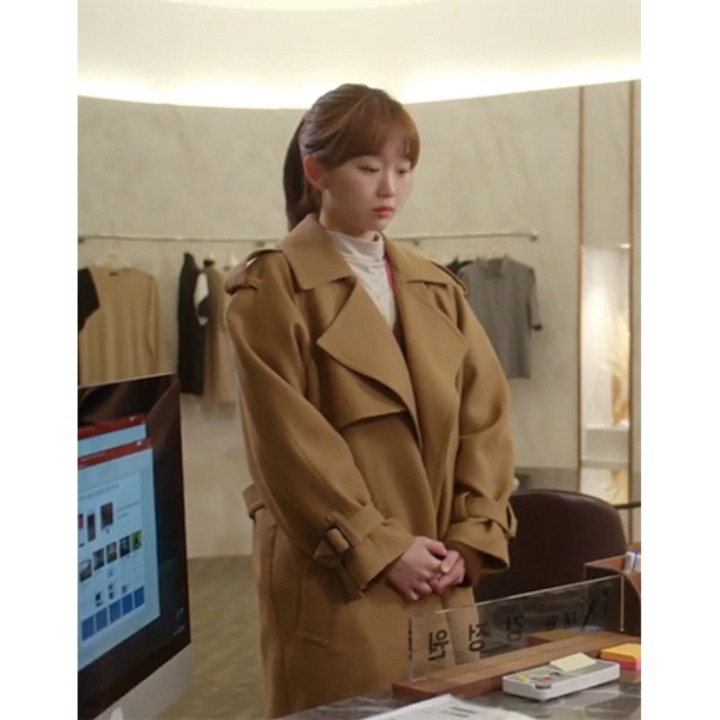 [진기주] MANUEL Belted Wool Trench Coat_Camel